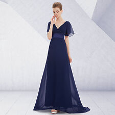 Elegant Vneck Evening Party Dress Cocktail Wedding Prom Gown Au6-20 Summer 09890 20 Navy Blue