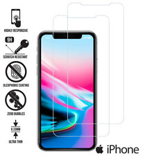 TEMPERED GLASS FILM SCREEN PROTECTOR FOR NEW iPhone XR XS MAX 8 7 6s 5s 2018 2PK
