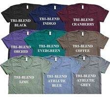 10 Blank American Apparel TR401 Tri Blend T-Shirt Lot ok to mix XS-XL & Colors