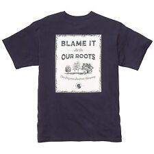 Southern Proper Navy Blame It On Our Roots S/Sleeve Pocket T-Shirt Medium