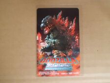 GODZILLA 2000 Phone card japanese  movie  japan new