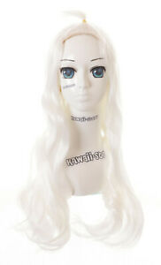 PL-629 Mirajane Ostrich Fairy Tail White 25 5/8in Smooth Anime Cosplay Wig
