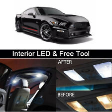 4Pcs White LED lights interior package kit for 2015 & Up Ford Mustang + Tool
