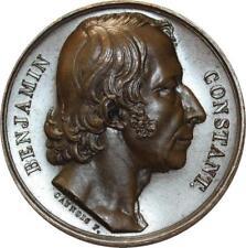 O5421 Rare Médaille Benjamin Constant Député Lausane 1827 Caunois Desnoyers SPL
