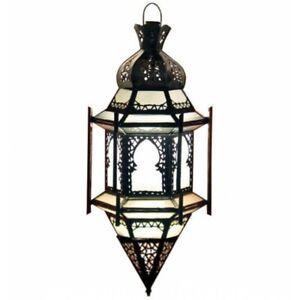 Arabes Lanterne Luminaire Suspendu Verre Dépoli Lampe Plafonnier Prince