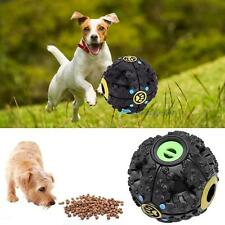 Pet Dog Puppy Cat Food Dispenser Chew Ball Sound Squeaker Training Play Toy DH