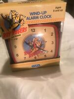 roy rogers and trigger wind-up alarm clock, schylling