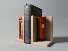 Telephone & Post Boxes Matched Pair Bookends Model 1.5Kg Figure Sculpture New