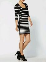 Rag & Bone Knit Sara Sweater Above Knee Length Long Sleeve Striped Dress sz.S