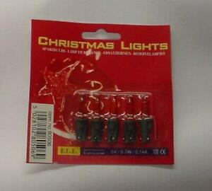 Pack of 5 Push In Red Fairy Spare Bulbs 5v 0.7w 0.14a (S7-RED)