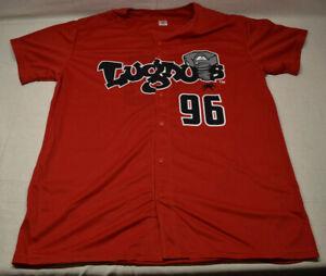 Lansing Lugnuts Red Jersey Large Michigan Baseball #96 Limited Edition of 1000