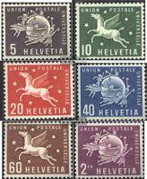 Schweiz UPU1-UPU6 (kompl.Ausgabe) postfrisch 1957 Sondermarken