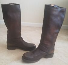 Frye 'Veronica' Slouch Boots Dark Brown Leather Size 7.5 B  $368