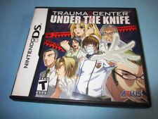 Trauma Center Under the Knife (Nintendo DS) Lite DSi XL 3DS 2DS w/Case & Manual