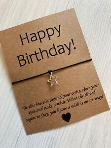 ⭐️ Happy Birthday Wish bracelet Friend/family Gift Present Star Charm ⭐️