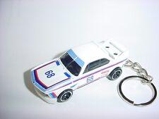 NEW 3D WHITE 1973 BMW 3.0 CSL CUSTOM KEYCHAIN keyring key RACER racing finish