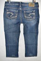 Silver Jeans Aiko Capri Womens Jeans Size 29 Blue Meas. 31x22 Stretch