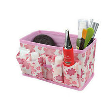 Makeup Cosmetic Storage Box Bag Bright Organiser Foldable Stationary Contain UK