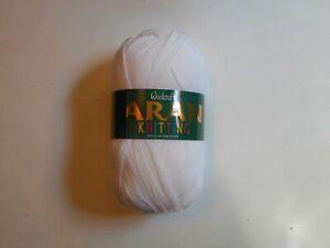 Woolcraft 100% Acrylic Aran White 400g