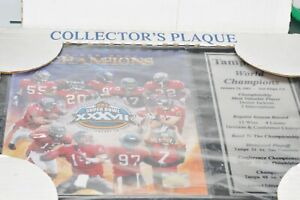 Collector's Plaque Team Shot Superbowl Wood Framed 8X10 By PSC Collect.