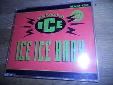 "VANILLA ICE ""ICE ICE BABY"" 1990 RARE 3 TRACKS CD QUEEN SAMPLE UNDER PRESSURE OOP"