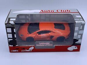Welly ALDI Auto Club 1:32 Orange Lamborghini Aventador LP7 Diecast Pull Back car