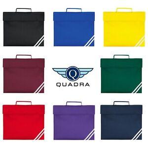 QUADRA Classic Book Bag Padded Handle Rip Strip Closure School 5 Litres QD456