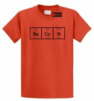 Bacon Periodic Table Science Elements Funny T Shirt Teacher Gift Meal Humor Tee