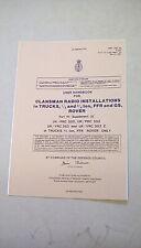 USER HANDBOOK CLANSMAN INSTALLATION PRC320, PRC352, VRC353 VRC353Z, 61590/10/32