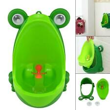 Boys Potty Toilet Training Urinal Children Pee Trainer Cute Frog Shape Bathroom