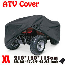 XL Black Waterproof ATV Quad Bike Cover Fit Yamaha Banshee Bear Tracker Bruin