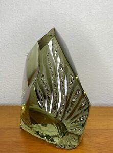 Vintage Abstract Glass Sculpture Ladislav Dostal 1970s