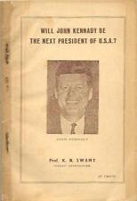 Will John Kennedy Be Next President of USA? Astrology Book Printed in India 1960