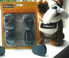 NEW SEALED FELLOWES PARTITION ADDITIONS CUBICLE CLIP 4-PACK 75270