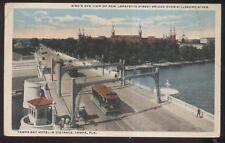 Postcard TAMPA Florida/FL  New Lafayette St Bridge w/Trolley Aerial view 1910's