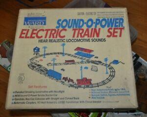 MONTGOMERY WARD Marx Sound-O-Power Train Set In Box Train Track Power Pack +