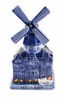 Windmühle Spieluhr Porzellan Modell 19 cm Holland Niederlande Souvenir