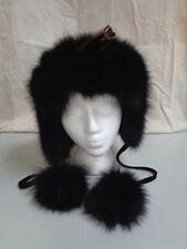BRAND NEW BLACK FOX FUR HEADBAND W/ EAR COVER WOMEN WOMAN SIZE ALL