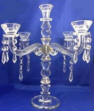 Crystal candle holder beaded table chandelier / home decorative