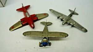 HUBLEY-TOOTSTOY-ERIE-    3 TOY PLANES FOR PARTS