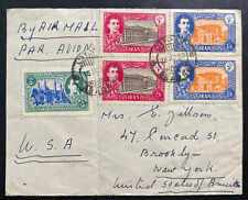 1950 Abadan Middle East Airmail Cover To Brooklyn Ny Usa