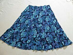 WHITE STAG WOMEN`S PLUS  Floral Maxi Crinkle Skirt - Pull On ~ Navy Combo~ UK 18