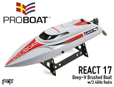 Pro Boat React 17 Self-Righting Deep-V Brushed Boat w/2.4Ghz Radio Rtr Prb08024