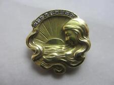 Yellow Gold Brooch/Pin Art Nouveau Fine Jewellery