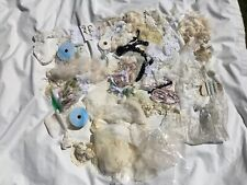 Lot Lace Trims Notions Bridal Appliques Collars Remnants Cuff Scrap Doll Crafts