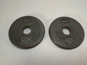 """2.5lb CAP Weight Plates Pancake style weights standard size 1"""" used 2 1/2 lb"""