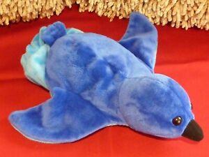 Dream blue bird hand glove puppet soft toy