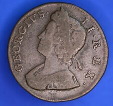 More details for 1733 george ii kgii half penny, 1/2d coin **[18761]