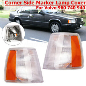 Pair Parking Corner Light Signal Driving Lamp For Volvo 740 940 960 Left+Right