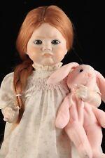 """SFBJ 252 Paris Pouty 20"""" Toddler Antique Reproduction Dolls by Jerri  Red Hair"""